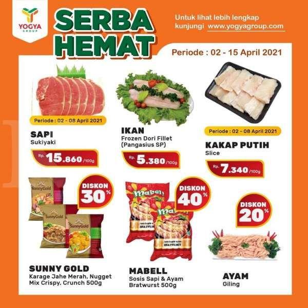 Promo Yogya Supermarket weekday 8 April 2021, masih ada promo Serba Hemat!
