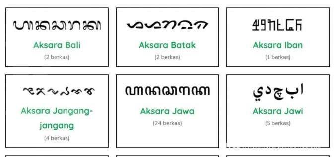 Dari 700 aksara daerah di nusantara, baru tujuh aksara yang terdigitalisasi