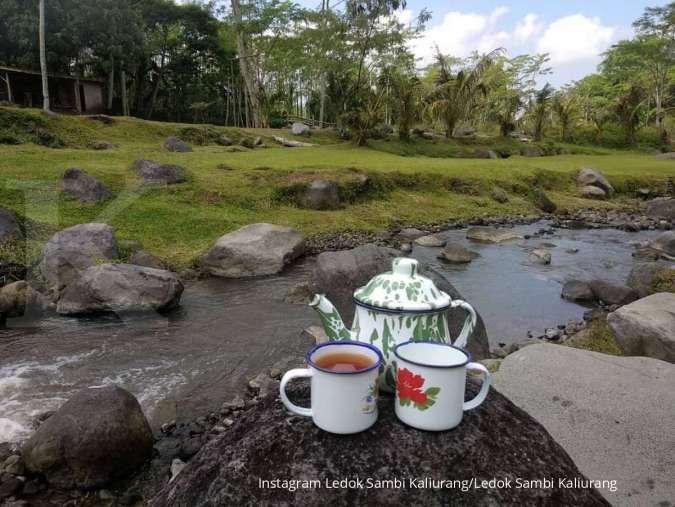 Ledok Sambi Kaliurang, bentang alam yang indah berlatar Gunung Merapi