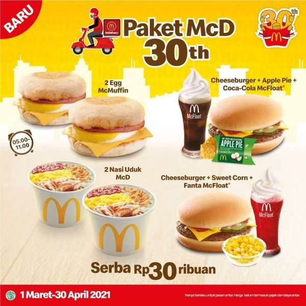Promo McD 1 Maret � 30 April 2021