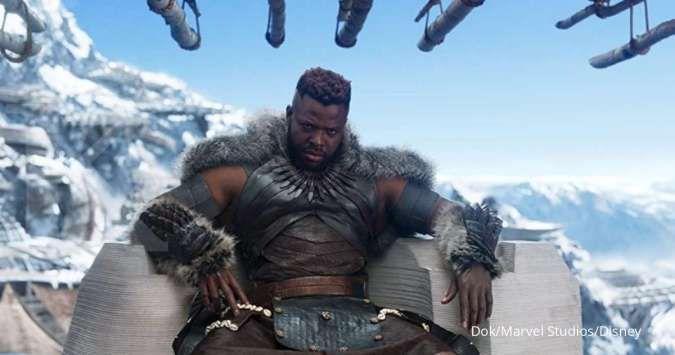 Winston Duke di film Black Panther.