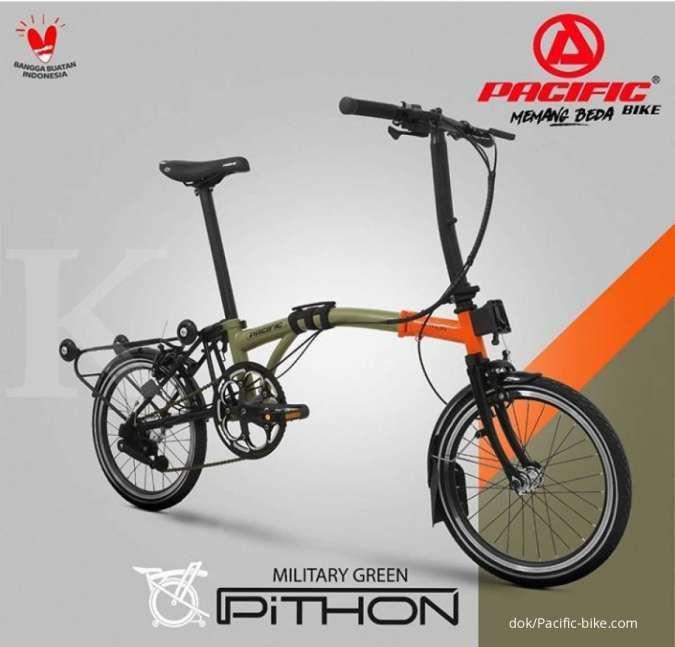 Nampak seperti Brompton, harga sepeda lipat Pacific Pithon ringan di kantong