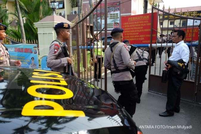 Seorang Polisi terluka akibat bom bunuh diri di Polrestabes Medan