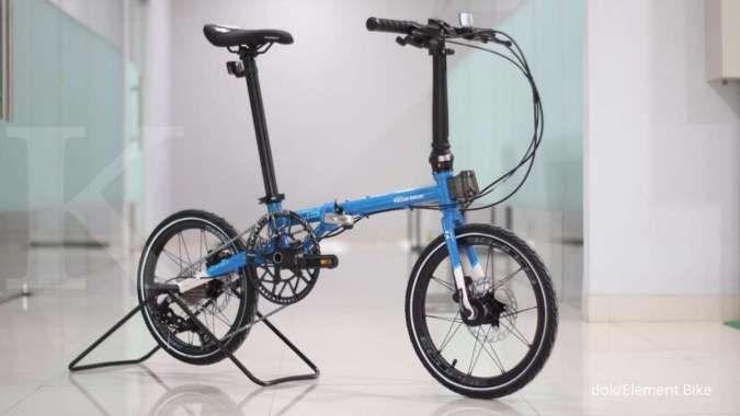 Baru, harga sepeda lipat Element Troy X 10SP Pocari Sweat dipatok tidak terlalu mahal