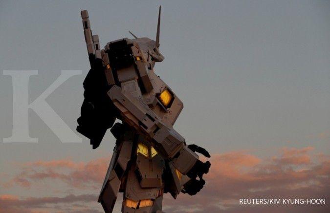 Untuk pertama kali, patung robot Gundam raksasa dibangun di luar Jepang