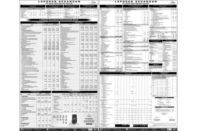 Laporan Keuangan PT. Bank Jabar Banten Syariah