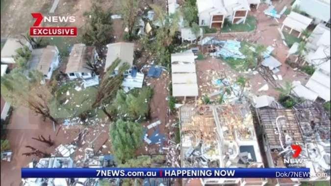 Langka, siklon tropis Seroja sampai Australia Barat, timbulkan kerusakan parah