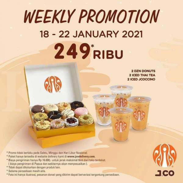 Promo J.CO periode 18-22 Januari 2021