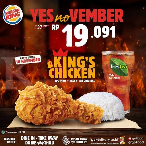 Promo Burger King 9-16 November 2020
