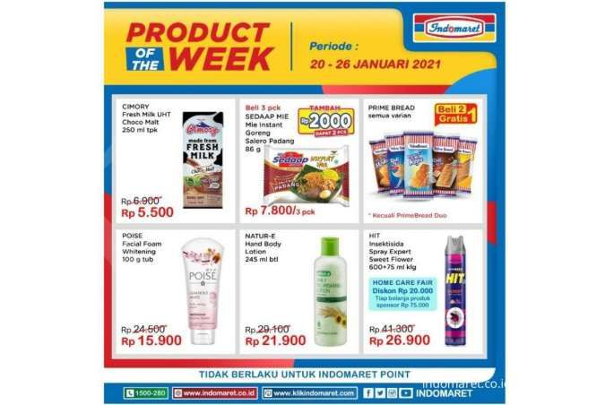 Promo Indomaret Product of The Week 20-26 Januari 2021, diskon pekan ini!
