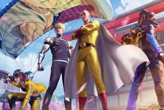 Siap jadi pahlawan? Skin kolaborasi Free Fire X One-Punch Man telah resmi hadir