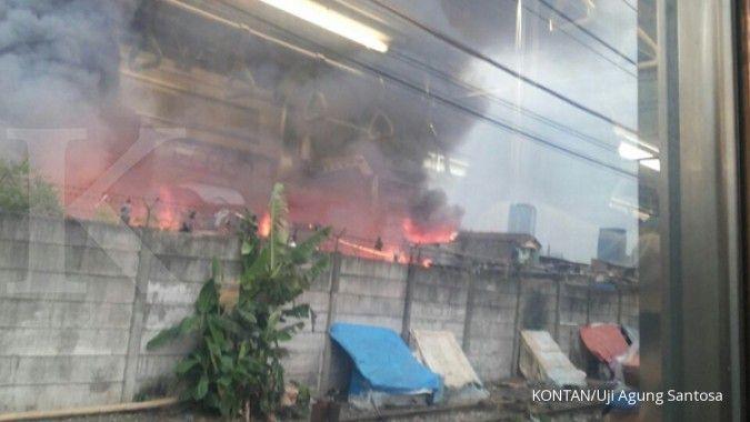 Kebakaran di Tanah Abang hanguskan 66 bangunan dan 2 orang terluka