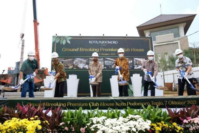 Agung Podomoro (APLN) groundbreaking premium club house Kota Podomoro Tenjo