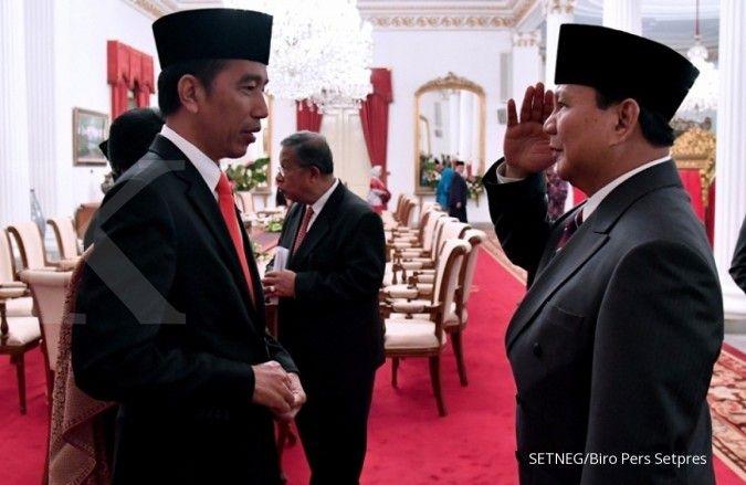 Elektabilitas Jokowi naik, Prabowo cenderung turun