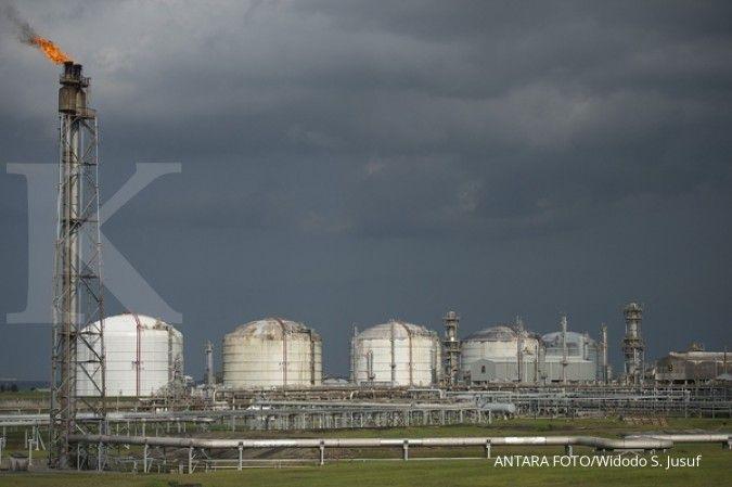 Suasana kilang pencairan gas alam Badak LNG di Bontang. ANTARA FOTO/Widodo S. Jusuf/Rei/15.