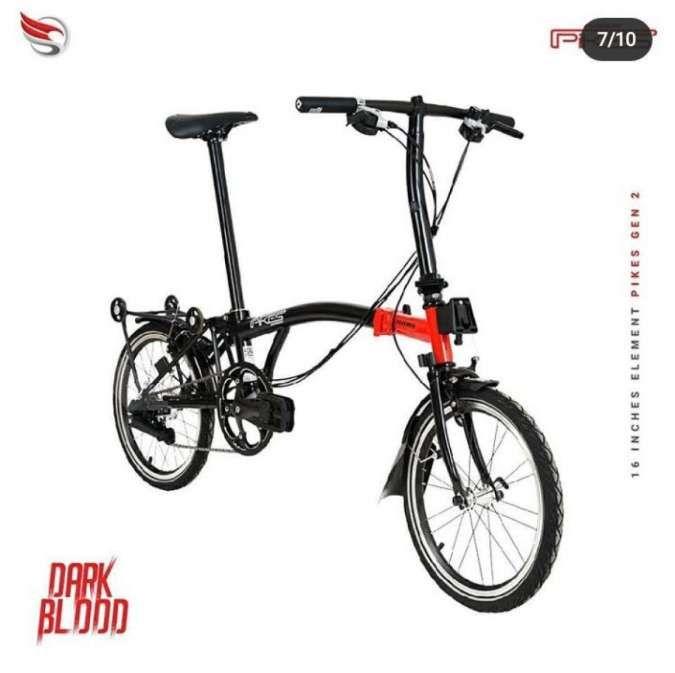 Mirip Brompton juga, harga sepeda lipat Element Pikes Gen 2 bersahabat di kantong