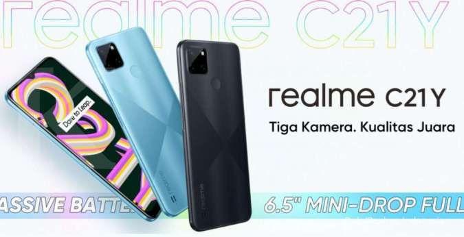 Seri sejutaan terbaru dari Realme, ini harga HP Realme C21Y