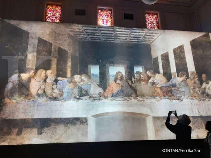Replika dengan teknologi digital lukisan Leonardo Da Vinci di Museum Mandiri