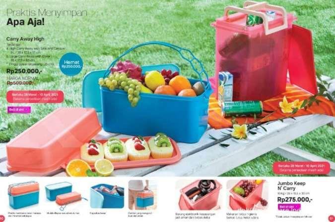Katalog promo Tupperware April 2021, potongan harga produk penyimpan snack