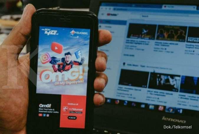 Promo harga kuota Telkomsel terbaru hari ini: Internet OMG! mulai Rp 40.000-an