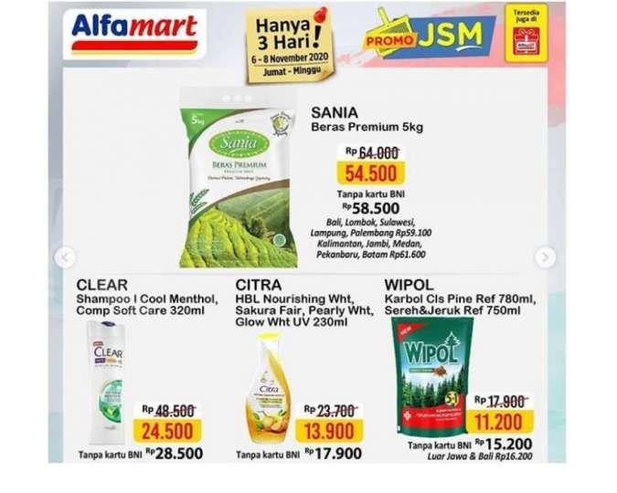 Promo JSM <a href='https://cirebon.tribunnews.com/tag/alfamart' title='Alfamart'>Alfamart</a> <a href='https://cirebon.tribunnews.com/tag/promo' title='Promo'>Promo</a> 6-10 November 2020