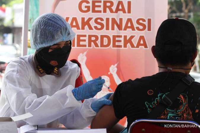 Vaksinasi Covid-19 lengkap di Indonesia baru 10% dari target
