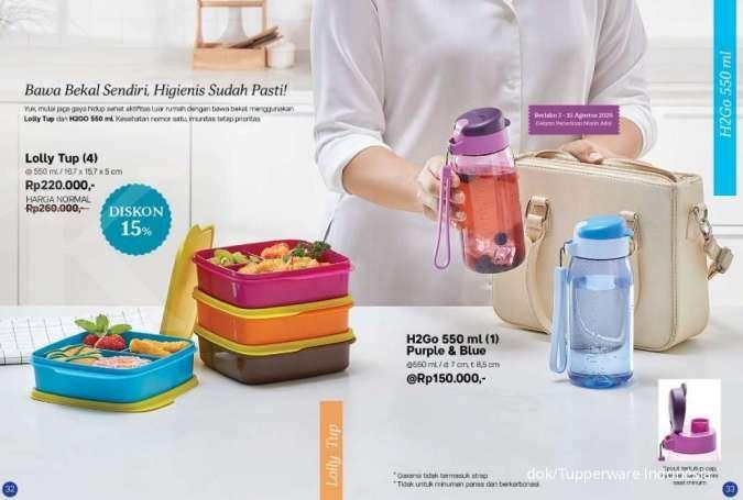 Tupperware promo Agustus 2020 spesial kotak bekal makanan, ada diskon 15%