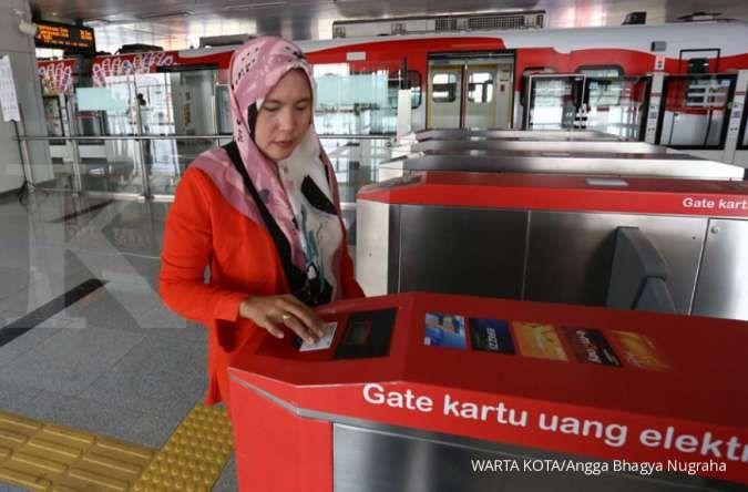Rekor penumpang Light Rail Transit Jakarta (LRTJ) mencapai 7.400 orang