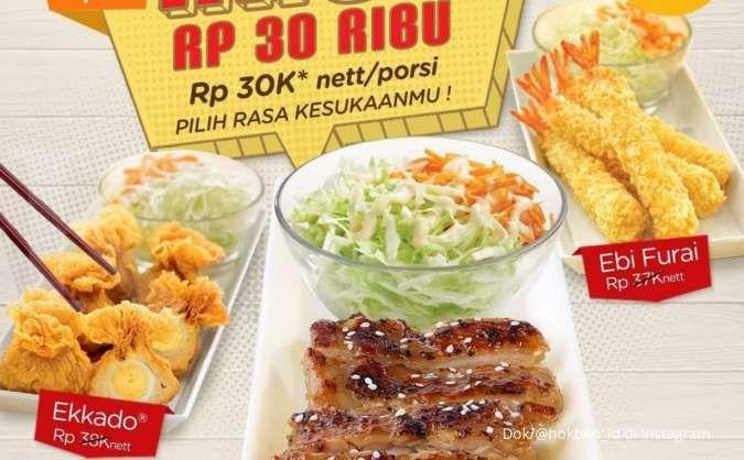 Promo HokBen terbaru 22 September, nikmati Rabu Rp 30.000 untuk menu favorit Anda