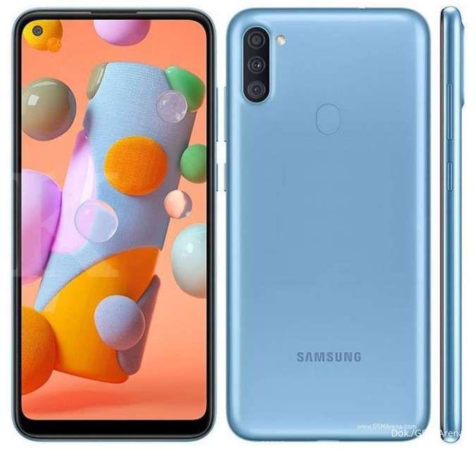 Detail desain dari Samsung Galaxy A11