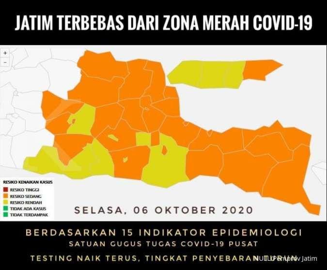 Hore Jawa Timur Sudah Terbebas Dari Zona Merah Corona