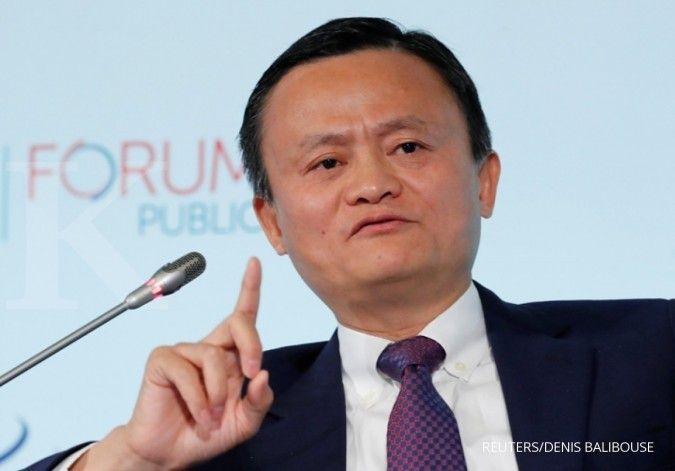 Kekayaan Jack Ma bertambah puluhan triliun setelah saham Alibaba melesat