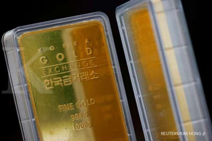 Tengah siang, harga emas spot tak kuat nanjak