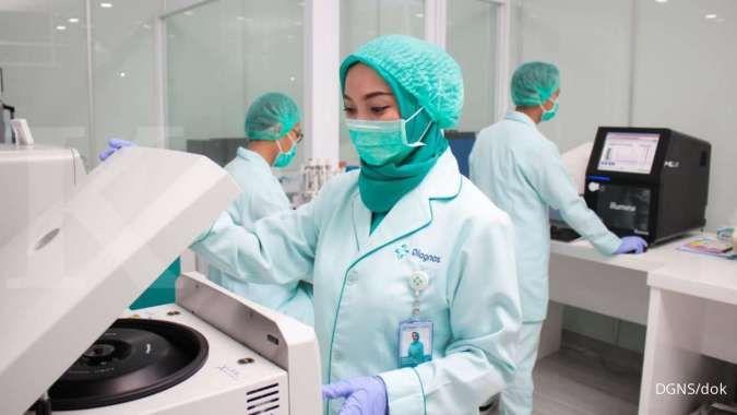 Catat jadwal pembagian dividen Diagnos Laboratorium (DGNS)