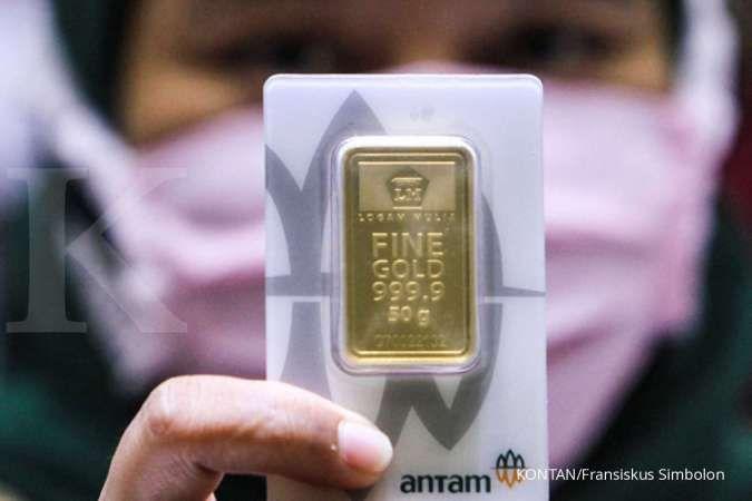 Harga emas 24 karat Antam hari ini turun Rp 1.000 per gram, Senin 10 Agustus 2020