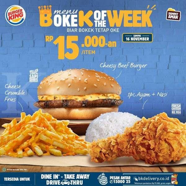 Harga murah di promo Burger King periode 9-16 November 2020