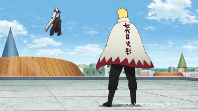 Boruto episode 215: Pertarungan Isshiki Otsutsuki melawan Konoha