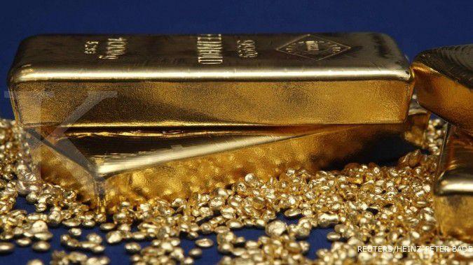 Emas menuju kenaikan mingguan tertinggi