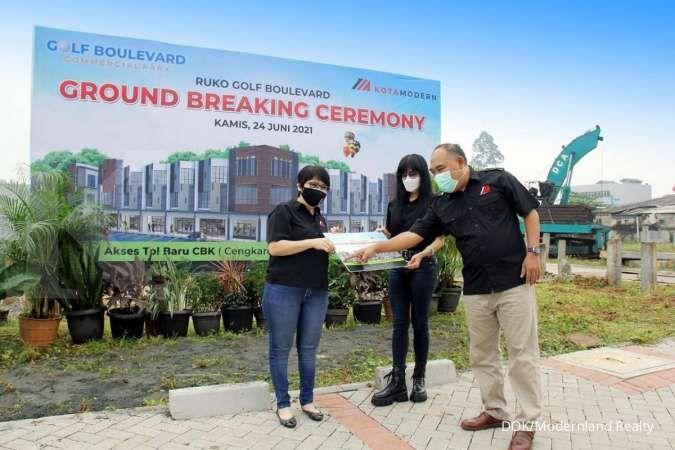 Modernland (MDLN) memulai pembangunan Ruko Golf Boulevard Commercial Park