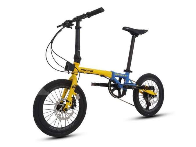 Masih gres! Harga sepeda lipat Pacific Flux Minions tak bikin isi dompet kandas