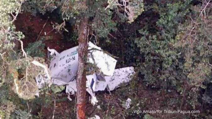 Pesawat Rimbun Air hilang kontak di Intan Jaya, ditemukan dalam kondisi hancur