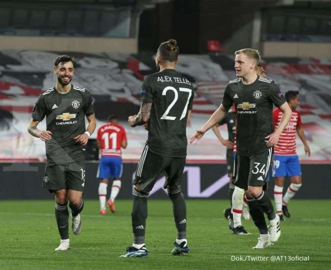 Bek kiri Manchester United Alex Telles diminati Inter milan