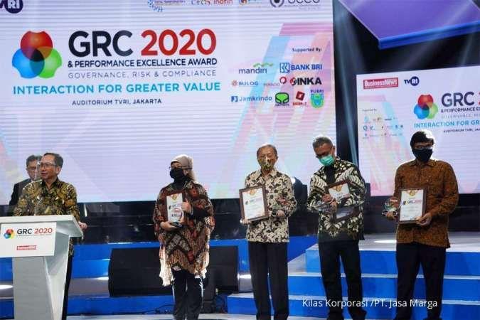 Jasa Marga Raih Penghargaan di Ajang GRC & Performance Excellence Award 2020