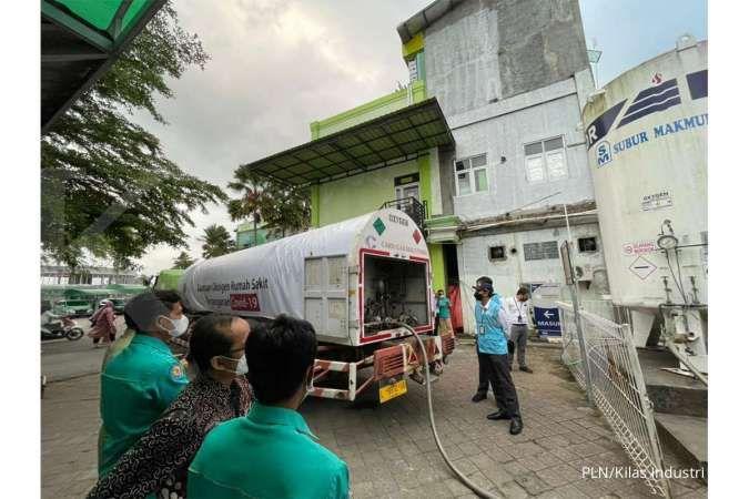 PLN Berikan 12 Ton Oksigen Kepada 5 Rumah Sakit Di Jawa Tengah