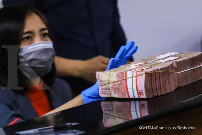 Rupiah bertahan di level Rp 14.100 per dolar AS satu jam sebelum penutupan hari ini