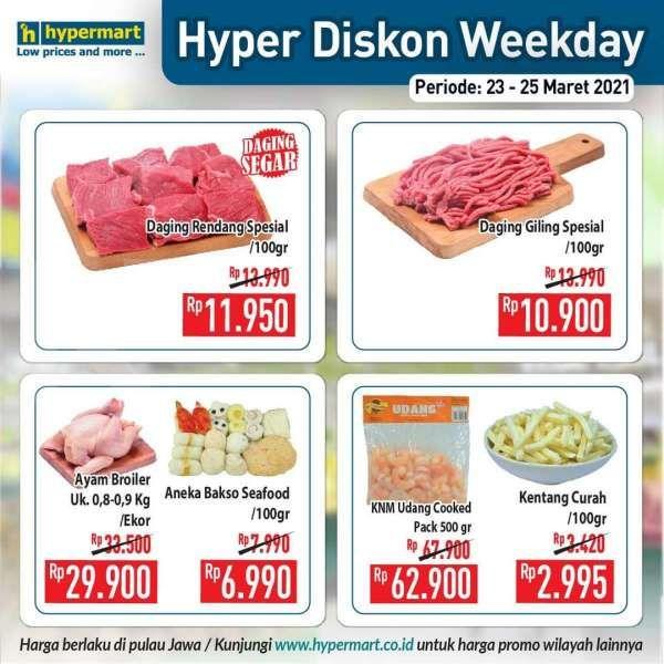 Paling baru! Promo Hypermart weekday 23-25 Maret 2021, diskonan hari kerja