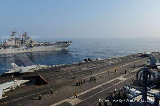 Kapal induk AS dan China sama-sama latihan di Laut China Selatan, begini kekuatannya