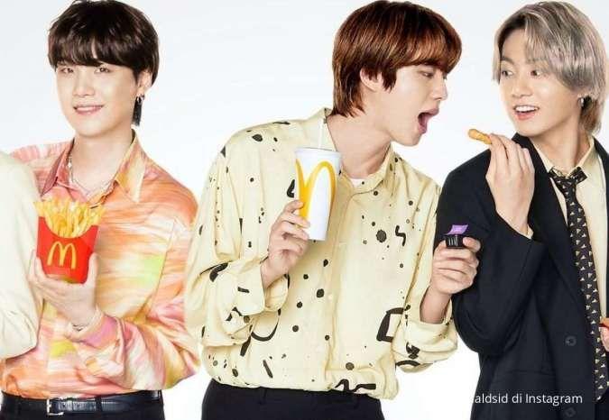 BTS Meal diburu, netizen Korea kaget lihat foto ramainya ojek online di McD Indonesia