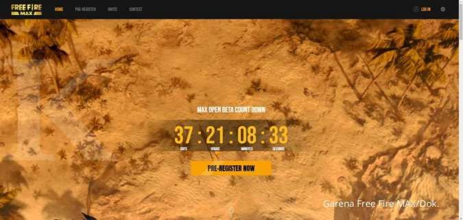 Countdown Open Beta Free Fire MAX di regional MENA (Timur Tengah dan Afrika Utara)