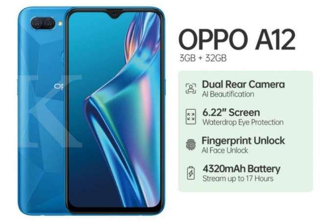Cek daftar harga HP OPPO A12 terbaru, semua versi hanya Rp 1 jutaan
